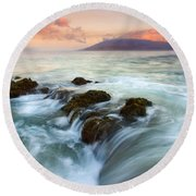 Sunrise Drain Round Beach Towel