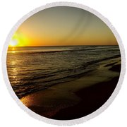 Sunrise First Light Round Beach Towel