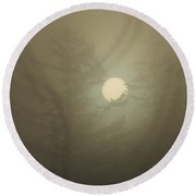 Sunrise Fogged - 2 Round Beach Towel