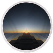 Sunrise From 30k 3 Round Beach Towel