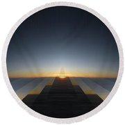 Sunrise From 30k 3 Round Beach Towel