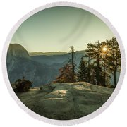 Sunrise Glacier Point Round Beach Towel