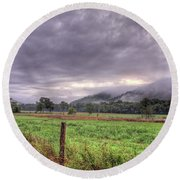 Sunrise In Boxley Valley Round Beach Towel