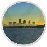 Sunrise In Cleveland Ohio Round Beach Towel