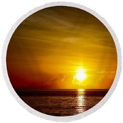 Sunrise In Florida / C Round Beach Towel