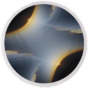 Sunrise In Fractal Round Beach Towel