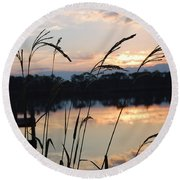 Sunrise In Grayton 3 Round Beach Towel