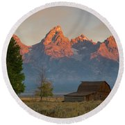 Sunrise In Jackson Hole Round Beach Towel