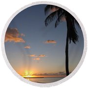 Sunrise In Key West 2 Round Beach Towel