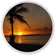 Sunrise In Key West Fl Round Beach Towel