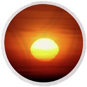 Sunrise In Othello  Round Beach Towel