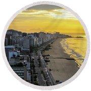 Sunrise In Rio De Janeiro Round Beach Towel