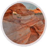 Sunrise In Valley Of Fire State Park Round Beach Towel