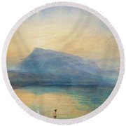 Sunrise Round Beach Towel by Joseph Mallord William Turner