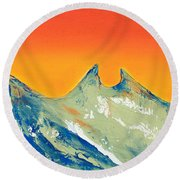 Sunrise La Silla Round Beach Towel