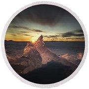 Sunrise March 24 740 Am Sturgeon Bay Round Beach Towel