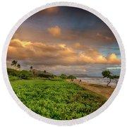 Sunrise Nukolii Beach Kauai Hawaii 7r2_dsc4068_01082018 Round Beach Towel