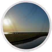 Dunube Delta Sunrise Round Beach Towel