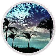 Sunrise On Miami Beach Round Beach Towel