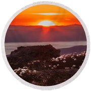 Sunrise On Mount Clay 2 Round Beach Towel