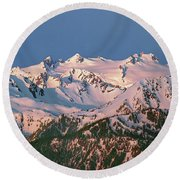 1m4120-sunrise On Mt. Olympus  Round Beach Towel