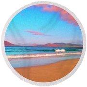 Sunrise On Sea Of Cortez Round Beach Towel