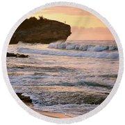 Sunrise On Shipwreck Beach Round Beach Towel