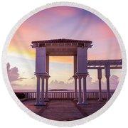 Sunrise On The Caribbean Round Beach Towel