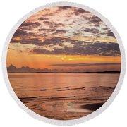 Sunrise On The Shore  Round Beach Towel