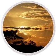 Sunrise Over Fort Salonga4 Round Beach Towel