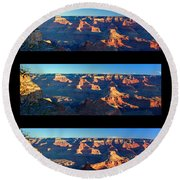 Sunrise Over Grand Canyon Round Beach Towel