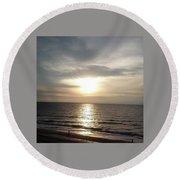 Sunrise Over Myrtle Beach, Sc Round Beach Towel