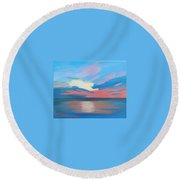 Sunrise Over Ocean City Maryland Round Beach Towel