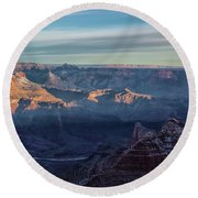 Sunrise Over The Grand Canyon Round Beach Towel