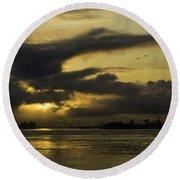 Sunrise Over The Ninth Ward Round Beach Towel