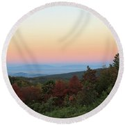 Sunrise Over The Shenandoah Valley Round Beach Towel