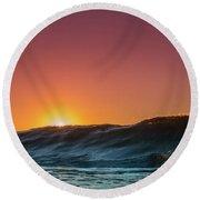 Sunrise Peeking Round Beach Towel
