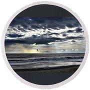 Sunrise Promise Round Beach Towel