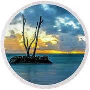Sunrise Punta Cana #2 Round Beach Towel
