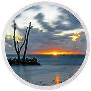Sunrise Punta Cana Round Beach Towel