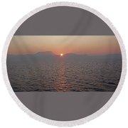 Sunrise Rota Spain Round Beach Towel