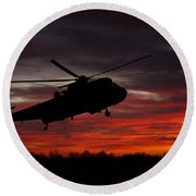 Sunrise Search And Rescue Round Beach Towel