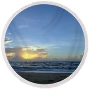 Sunrise Sept 2016 Obx Avon  Round Beach Towel