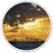 Sunrise Surf Spray Delray Beach Florida Round Beach Towel