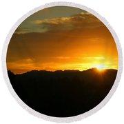 Sunrise Three 09 29 17 Round Beach Towel
