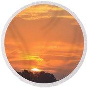 Sunrise Through Clouds 2451 Round Beach Towel