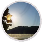 Sunrise Thru The Feeder Round Beach Towel