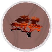 Sunrise Tree 2 Round Beach Towel