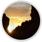 Sunrise Valley Of Fire Round Beach Towel