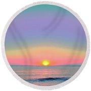 Sunrise With Digits Round Beach Towel